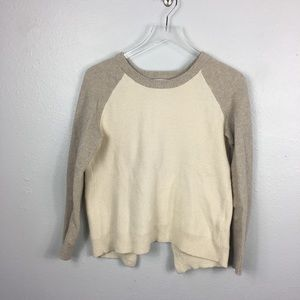 Madewell cream open bank sweater